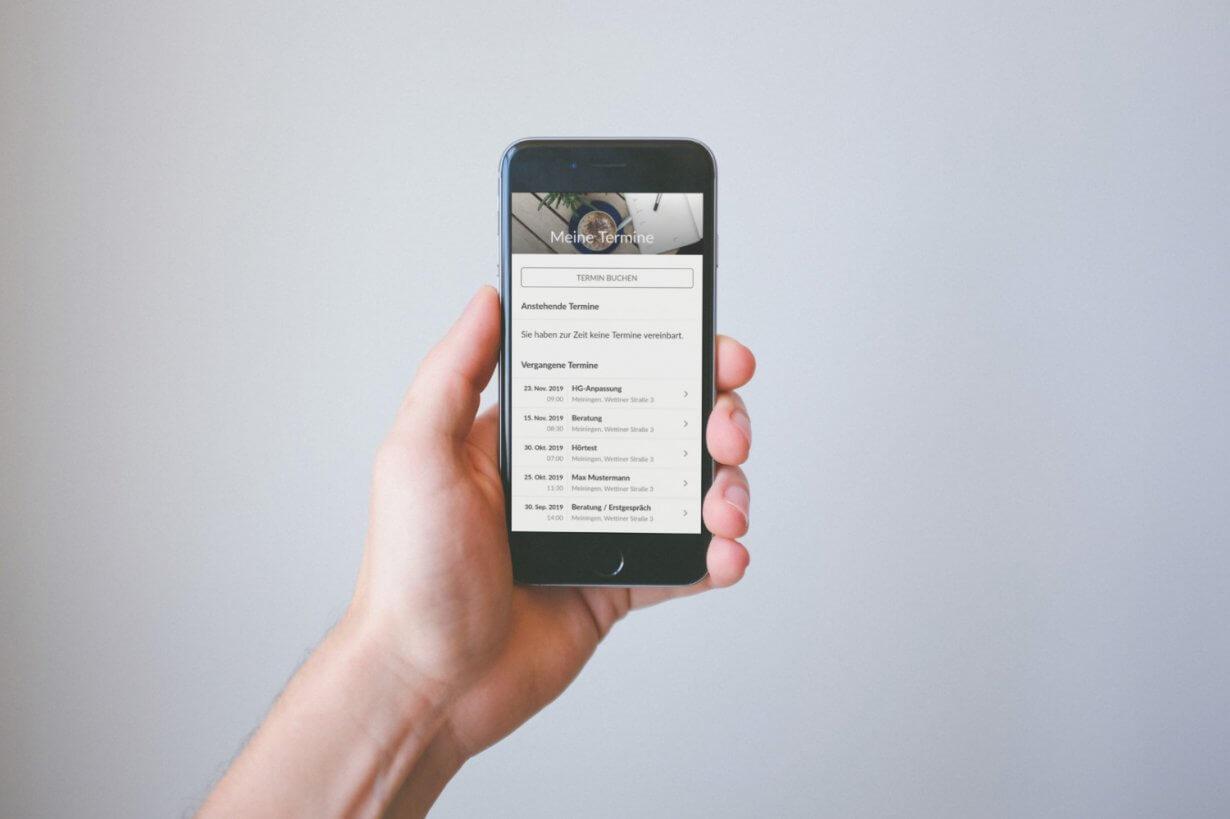 Hörgeräte-App bei Hörgeräte Möckel Termine